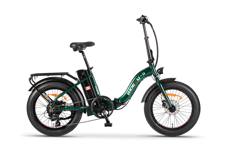 The Slane Rideau 2 E-Bike in a green color