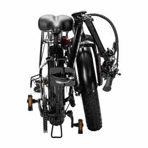 The SLane Columbus E-Bike Black folded for easy transport