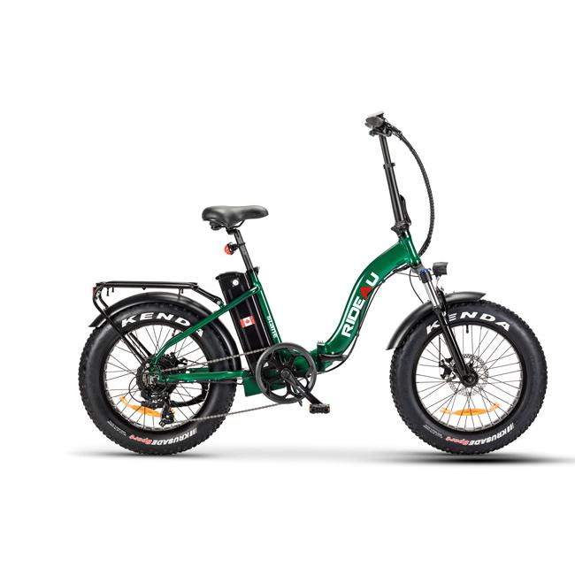The Slane Rideau E-Bike in a green color