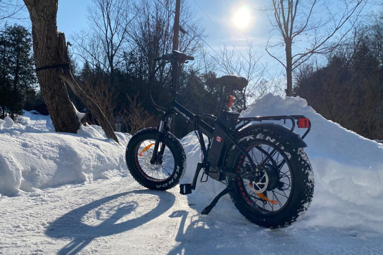 Columbus winter trail riding 1