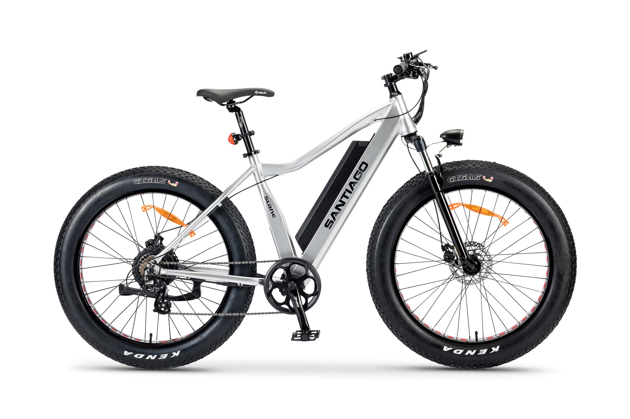 The Slane Santiago 3.0 Fat Tire E-Bike in Silver